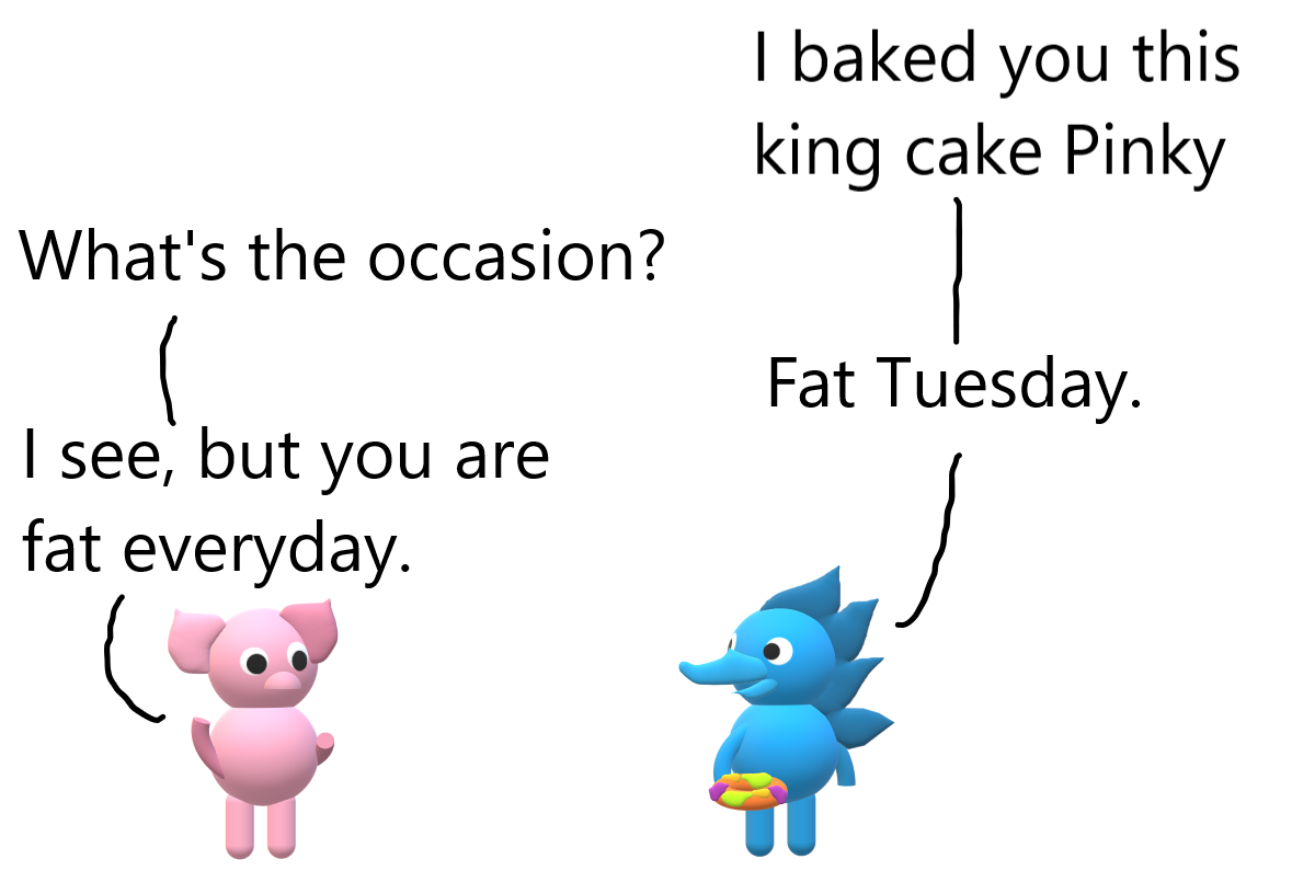 pinky and spiky fat tuesday.png